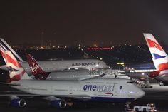 """British Airways 747+ A380 Virgin 787 Dreamliner and Air France A380 at OR Tambo International Airport #a380 #british #britishairways #airbus #airport…"" thelensofgaryb"