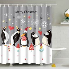 SHARE & Get it FREE | Christmas Penguin Print Fabric Waterproof Bath Shower CurtainFor Fashion Lovers only:80,000+ Items·FREE SHIPPING Join Dresslily: Get YOUR $50 NOW!