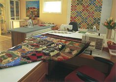 Does your quilting space need a makeover? Whether you sew in a spacious studio or at the kitchen table, these tips will help you maximize efficiency and enjoy your quilting time more.