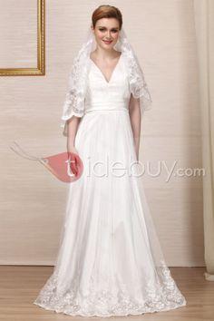 シース/カラムVネック床までの長さレース刺繍ウェディングドレス