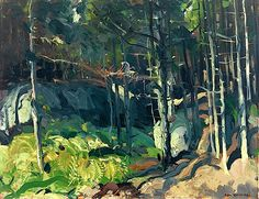 George Bellows (American, 1882-1925), Fern Woods, 1913