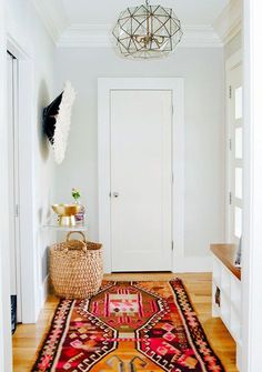 hall nook. Love these colors!