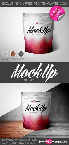 Free Foil Bag Mock-up in PSD | Free PSD Templates