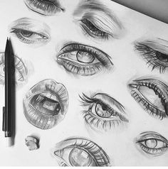 Marvelous Draw, Shade Realistic Eyes, Nose and Lips with Graphite Pencils Ideas. More About Draw, Shade Realistic Eyes, Nose and Lips with Graphite Pencils Ideas. Pencil Art Drawings, Realistic Drawings, Art Drawings Sketches, Tattoo Drawings, Tattoos, Arte Sketchbook, Drawing Techniques, Drawing Tips, Drawing Ideas