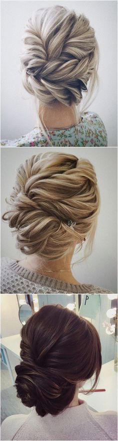 beautiful twisted updo wedding hairstyle ideas #weddinghairstyles