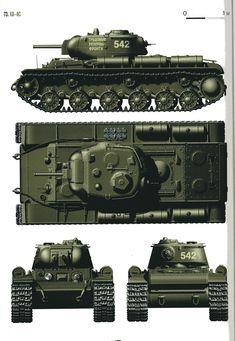 КВ-8 С тяжелый   огнеметный танк красной армии