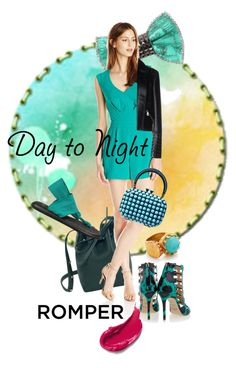 """Day to Night: Rompers"" by kari-c ❤ liked on Polyvore featuring Mansur Gavriel, Bijoux de Famille, Trina Turk, Clara Kasavina, sanuk, Aperlaï, Versace, Ottoman Hands, DayToNight and romper"