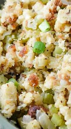 Onion Dill Bread Stuffing Thanksgiving Feast, Thanksgiving Recipes, Holiday Recipes, Food Dishes, Main Dishes, Side Dishes, Corn Bread, Stuffing Recipes, Dressing Recipe