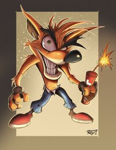 Crash Bandicoot Final artwork by RobDuenas.deviantart.com classic playstation video games