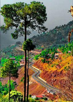 Murree Express Way Murree Pakistan, Pakistan Tourism, Pakistan Travel, Islamabad Pakistan, Places To Travel, Places To See, Amazing Places, Beautiful Places, Karakoram Highway