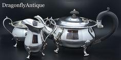 SUPERB Antique Vintage Silver Plated Tea set Richardson Sheffield Teapot 1899