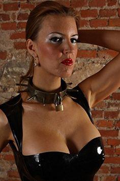Fetisch Halsband Stahlhalsband Long Spike Maßanfertigung, Handarbeit