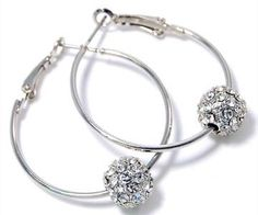 Tiffany Inspired Hoop Swarovski Crystal Embellished  Can be worn with dressy or casual attire. Lightweight enough for everyday wear. More like this at Glamour Girl Gifts!