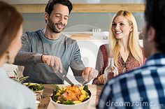 Lunch With Friends Stock Photo - Image: 68277297
