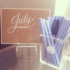 monogrammed acrylic pencil cups are too cute and can be used for office accessories or makeup. fill it with her favorite pens or lipgloss or two for the perfect gift! Desk Stationery, Desk Inspiration, Pencil Cup, Cup Design, Office Accessories, Best Christmas Gifts, Periwinkle, Gifts For Women, Monogram