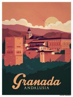 Granada Poster by IdeaStorm Studios ©2016. Available exclusively at ideastorm.bigcartel.com