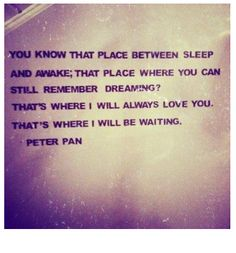 I love Peter Pan