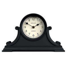 Newgate Clocks Gatekeeper's Clock - Black (€91) ❤ liked on Polyvore featuring home, home decor, clocks, black, black home decor, newgate, black clock, black mantle clock and black mantel clock