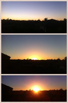 3 Picture Sunrise Collage