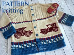 Knitting Patterns Boys, Star Patterns, Baby Patterns, Baby Cardigan, Baby Vest, Knitted Baby Clothes, Retro Cars, Garter Stitch, Sewing For Kids