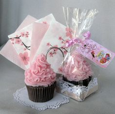 """Handmade soap gift """"Cupcake with cherry and chocolate """" by WellcomeToUkraine on Etsy"""