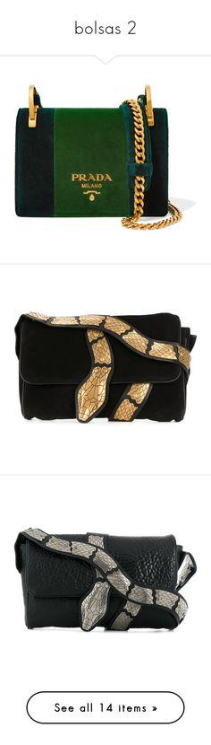 """bolsas 2"" by ana-odete-bastos-florentino ❤ liked on Polyvore featuring bags, handbags, shoulder bags, purses, borse, prada, emerald, cell phone purse, prada shoulder bag and prada handbags"