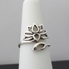 FashionJunkie4Life - Lotus Ring (Adjustable) - 925 Sterling Silver, $24.99 (http://www.fashionjunkie4life.com/lotus-ring-adjustable-925-sterling-silver/) Use coupon code PIN10 for 10% off your entire purchase and free shipping worldwide.