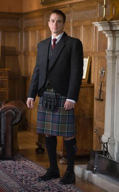 Kilt & Jacket--Aahh Lassies, who doesn't love a man in a kilt now......