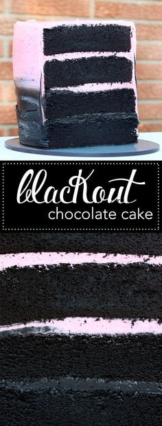 Blackout Chocolate Cake. This recipe features cocoa noir the darkest cocoa powder available. Try this easy recipe and you'll never go back to your old chocolate cake again.