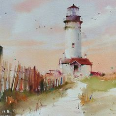 #blancaalvarezwatercolors #lighthouse