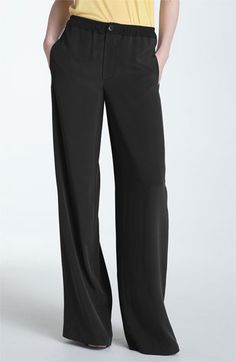 Vince Wide Leg Silk Pants