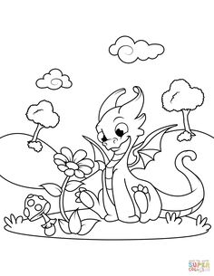 Free Printable Coloring Pages Sheets Dragon Page