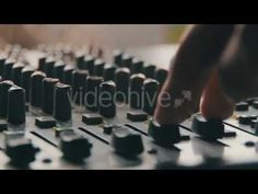 Working With Sound Mixing Console (Stock Footage)