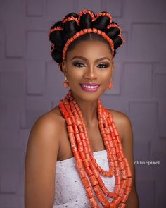 Nigerian Traditional Dresses, African Traditional Wedding Dress, Traditional Wedding Attire, African Wedding Hairstyles, Bride Hairstyles, Black Women Hairstyles, Nigerian Wedding Dress, African Wedding Attire, African Beauty