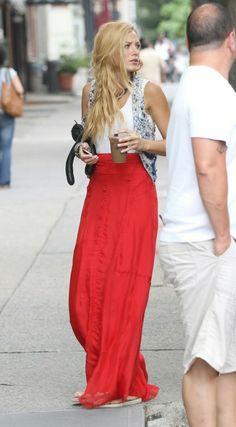 La star de Gossip Girl dans une tenue style bohème chic