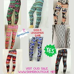 SALE!!! Little girls leggings $6!!!! While supplies last!! Hurry while supplies last!!! Ready... Set.... Shop  WWW.SKINSBOUTIQUE. NET #girlsleggings #bigsale #soft #comfy #cute #buskins
