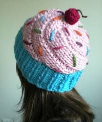 RESERVED for Sheri Finta - Light pink cupcake hat in a blue wrapper