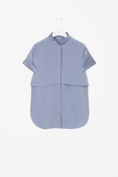 Layered silk shirt