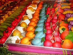 Really cool marzipan fruit!