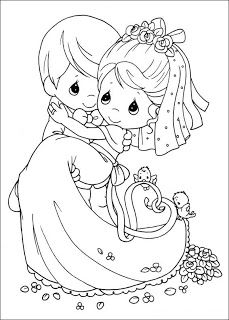 Newlyweds Precious Moments Coloring ~ Child Coloring