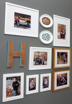 Love the letter H with the turquoise painted sides.
