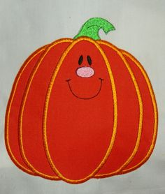 PUMPKIN Applique HALLOWEEN Holiday -  INSTANT Download Machine Embroidery Design by Carrie