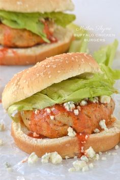 Chicken Recipes Buffalo Chicken Burgers recipe