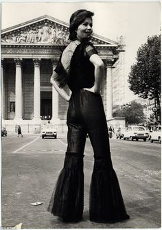 An all-in-one ensemble in silk and tulle with plunging back-line by Hyacinthe Novek, 1972...