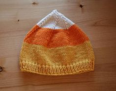 bf8bf507d5b candy corn hat - would love an adult pattern for this Baby Hat Patterns
