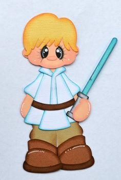 Disney Star Wars Luke for Premade Scrapbook Page Layout paper Piecing CrafteCafe