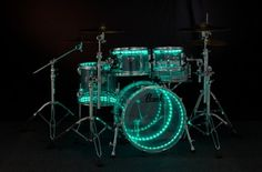 Drumlite Dual-band LED Lighting Kit for 4-piece Drum Set 22"