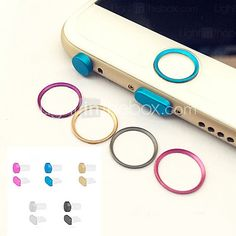 Metal Home button Cover Ring Protector Circle+Earphone Jack&Charging Port Anti-dust Plug Set for IPHONE 6/6S&6/6S PLUS 2016 - $5.99