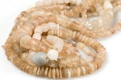 Ancient Rock Crystal Beads and Rough-Cut Neolithic Quartz Beads