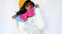 the dream crochet blog.: DIY // Free Crochet Pattern // Chunky Bow Infinity...